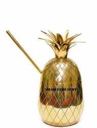 Polished Brass Pineapple Mug, Packaging Type: Box