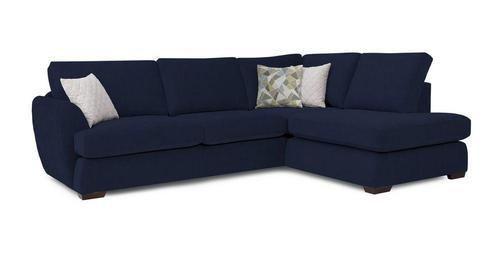Navy Blue L Shaped Sofa Set