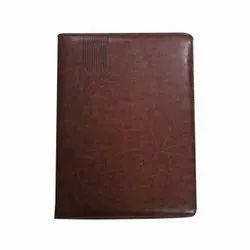 Brown Presentation Folder - Leather Document File Holder