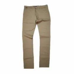 Mens Brown Cotton Trouser