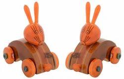 Utsav Kraft Handmade Wooden Kondapalli Rabbit Showpiece