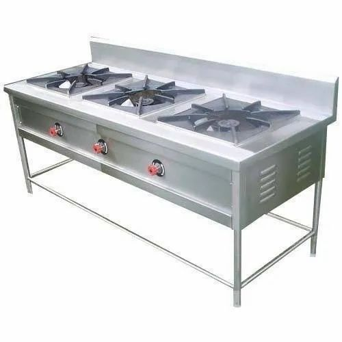 MAYUR 3 BURNER GAS RANGE, For Commercial