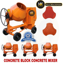 Concrete block concrete mixer