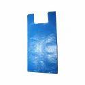 Blue Plastic Carry Bag
