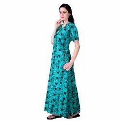 Seekret Ethnic Ladies Printed Cotton Nighty