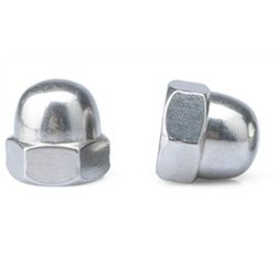 Polished Stainless Steel Dome Nut, Size: M3