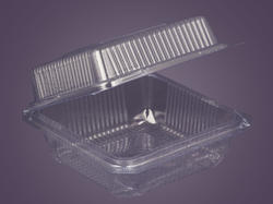 Plastic Disposable Square Tray With Lid