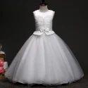 Beautiful White Sleeveless Party Dress