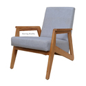 Upholestry Fabric Relax Hotel Balcony Home Easy Wood Wooden Cushion Chair