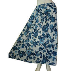 Large Multy Colour And Plain Colour Womens Cotton Skirts