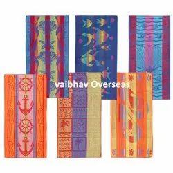 Vaibhav Overseas Rectangular Jacquard Beach Towel