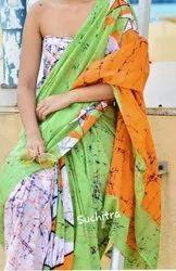 Designer Bagru Hand Batik Cotton Saree