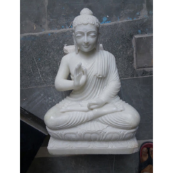 White Marble Gautam Budha Statue