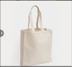 Off-White Cotton Carry Bag, Capacity: 5 Kg