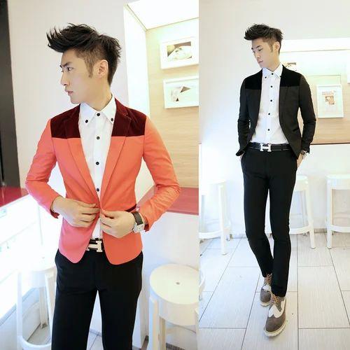 Blueberry Large Xl Korean Fashion Men S Slim Fit Jacket Rs 1500