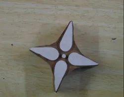 Simple Flower Pattern Wooden Printing Blocks