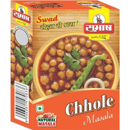 Subhash 50 g Chole Masala, Packaging: Box