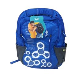 Polyester Skybags Printed School Backpack