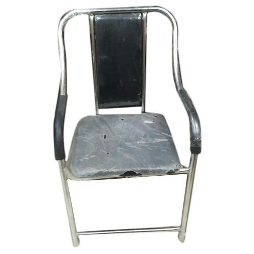 Black Stainless Steel Office Chair