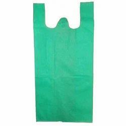 Green Plain W Cut Non Woven Bag
