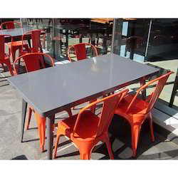 Iron Square Dining Set, For Hotel, Seating Capacity: 4