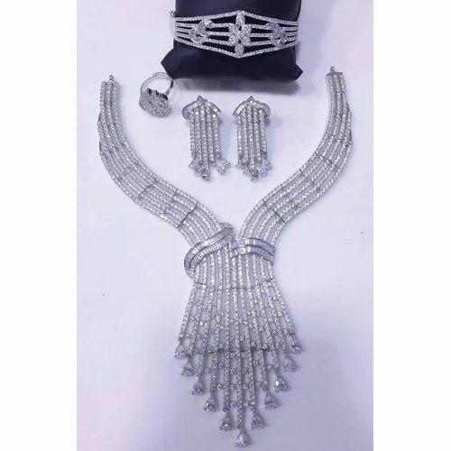 69260edc748 American Diamond Necklaces Sets - American Diamond Necklace Set  Manufacturer from Mumbai