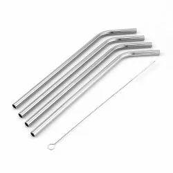 Round Stainless Steel Straw, For Restaurant