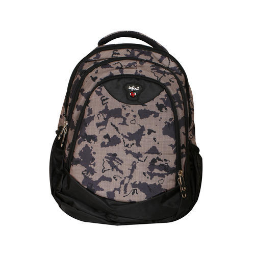 Black and Bisque Nylon Infinit Backpack School Bag