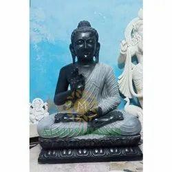 Handmade Marble Buddha Black Statue