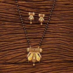 Gold Plated Kundan Classic Mangalsutra Set 350020