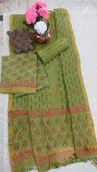 Chanderi Dress Material with Dupatta