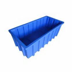 Rectangular Blue PPT-984833 Roto Plastic Crate, Capacity: 125 Ltrs