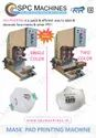 Two Color Face Mask Pad Printing Machine