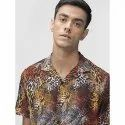 Green Hill Men's Printed Casual Leapord Shirt