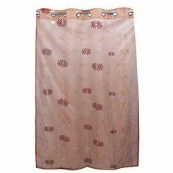 Orange Tissue Embroidered Door Curtain, Size: 4 X 9 Feet