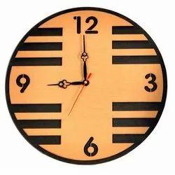 Analog Designer Round Wooden Wall Clock