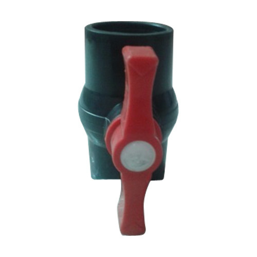 Black And Red Plastic Ball Valve