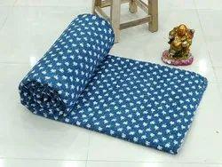 Block Printed Jaipuri Kantha Stitched Quilts