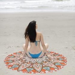 Indian Zag Jack Flower Yoga Mat Round Beach Throw Tapestry