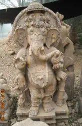Standing Ganesha Sand Stone Statue