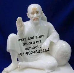 Dwarkamai Sai Baba marble Moorti