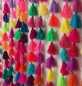 Colored Pom Pom Tassels