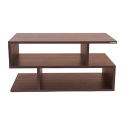 Walnut Klaxon Wooden Tv Stand Unit Led For Living Room