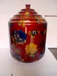 New Flower Print Color,Natural Round Copper Printed Pot, for Home, Capacity: 12 Ltr,16 liter