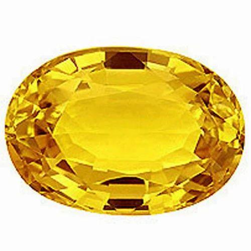 Yellow Sapphire Gemstone at Rs 5000 /piece | Precious ...  Yellow Sapphire...