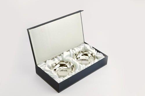 Silver Plated Leaf Design Bowls Set Of 2
