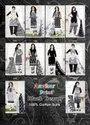 Avkar Black Beauty Black & White Pattern Printed Cotton Dress Material Catalog