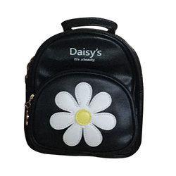 Daisy Black/White Backpack Bag