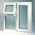 Hinged Upvc Top Hung Window For Home, Villa Etc, Glass Thickness: 10-15mm