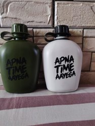 Military Green / White Plastic Water Bottles
